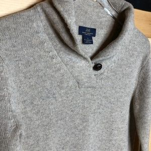 brooks brothers | lambswool oatmeal cowlneck sweat